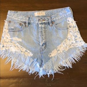 Free People boho shorts ☀️✨